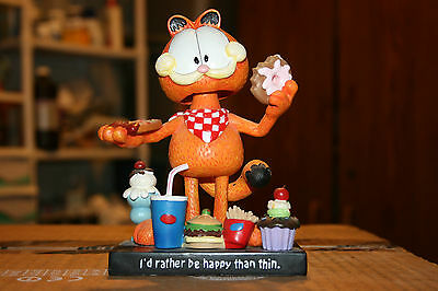 """Garfield """"Happy and Thin"""" Bobblehead (Out of Box)"""