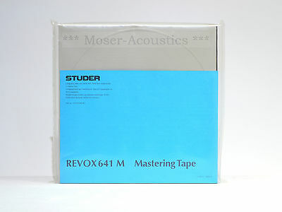 Original Studer Revox 641 M Mastering Tape Blank - on Metal Reel - New & sealed