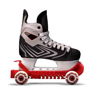 New Rollergard Ice Skate Guard Durable, non-marking indoor/outdoor wheels, Red