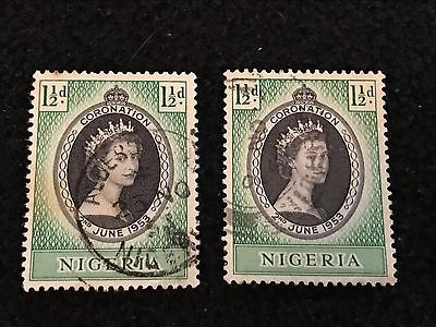 2 Nigeria  1953  Coronation Lot (1590)