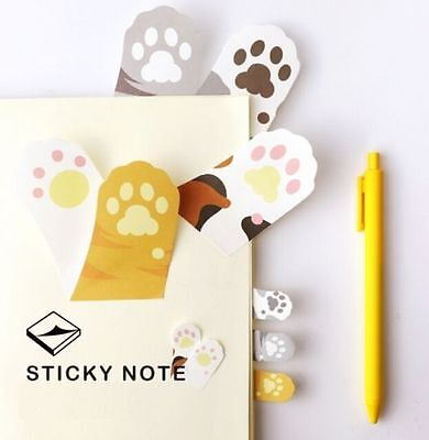 FD5118 Korea Cute Cats Paws Sticky Note Memo Pad Labels Gift Office Supply 1pc ♫