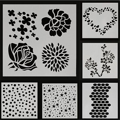 New Layering Stencil Template For DIY Scrapbooking Photo Album Paper Cards Craft