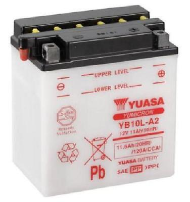 YB10L-A2 Yuasa Motorcycle Battery, 12 Volts, with Acid Pack