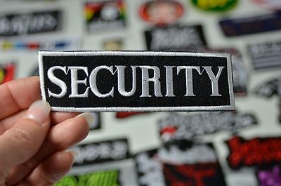 SECURITY Guard Bouncer Nightclub Worker Badge Protect  Iron On Patch Patches