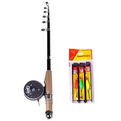 Fishing Rod Combo Portable Mini Fishing Tackle Tool Ice Rod and Reel Float Sets