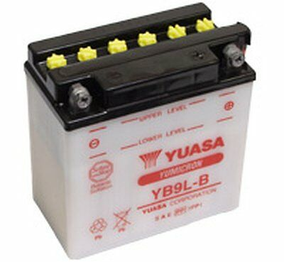 Genuine Yuasa YB9L-B Motorbike Motorcycle 12V Battery 135mm x 75mm x 139mm