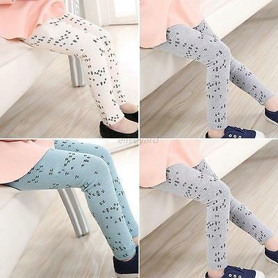 2-7Y Toddler Kids Girls Cute Warm Stretchy Leggings Cotton Pants Casual Trousers