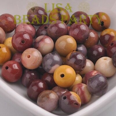 Wholesale 4~12mm Natural Mookaite Gemstone Stone Round Loose Spacer Beads