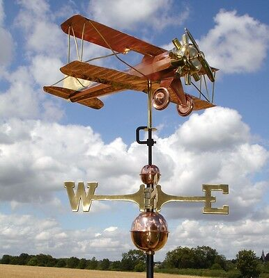 Bi Plane Copper Weathervane