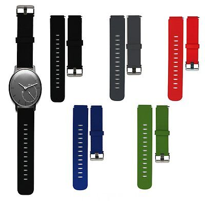 20mm Silikon Armband Uhrenarmband Strap für Withings Activite Pop Steel Sapphire
