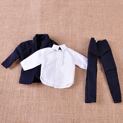 Formal Clothes Suit Outfit Tuxedo Wedding Groom Shirt Coat for Barbie Ken Doll