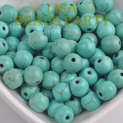Wholesale 4~12mm Natural Turquoise Gemstone Stone Round Loose Spacer Beads Bulk