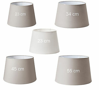 Jara Home Decor Grey and White Lamp Shade in Different Sizes