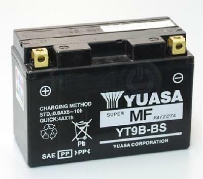 Yuasa Yt9B-Bs Motorcycle Battery With Acid Pack