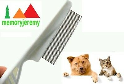 Pet Dog or Cat Flea Flee Comb with Plastic Handle UK SELLER!