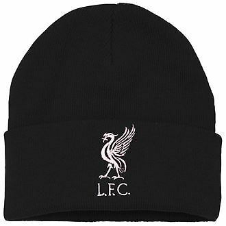 Official Liverpool Black Adult Beanie Football Merchandise