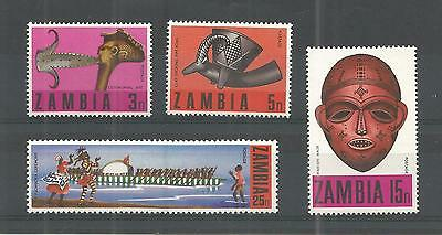 Zambia 1970 Traditional Crafts Sg,156-159 U/m N/h Lot 927A