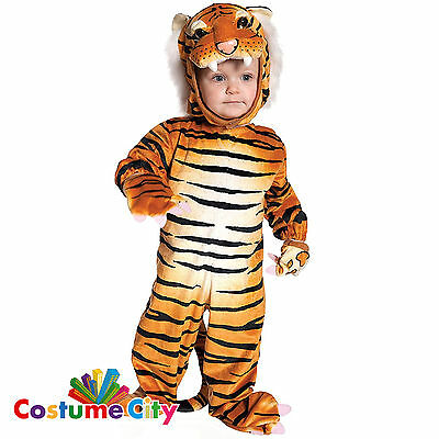 Childs Toddlers Brown Orange Tiger Book Week Halloween Fancy Dress Party Costume