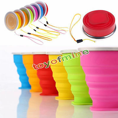 Portable Silicone Telescopic Drinking Collapsible Folding Cup Travel Camping Cup