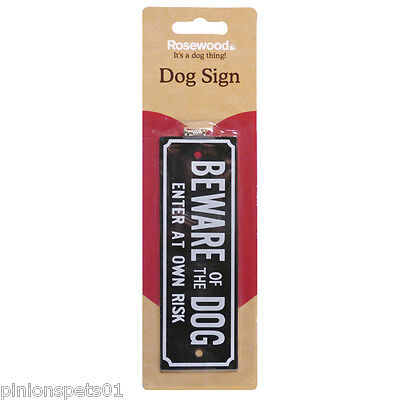 Beware Of The Dog Sign Warning Sign - Plastic 15cm x 5cm - With Fixing Screws