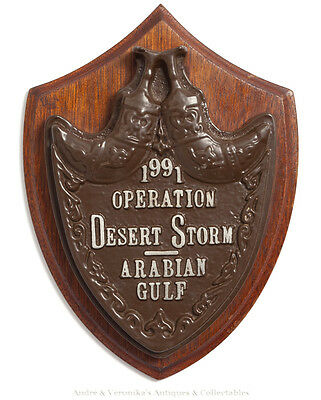 1991 OPERATION DESERT STORM Officer's Mess Wall Plaque Arabian Gulf US Army Navy