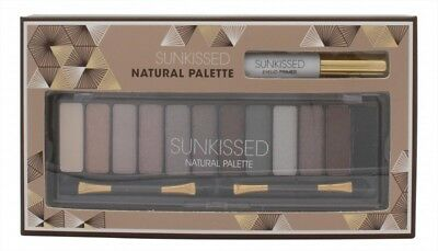 Sunkissed Natural Palette 12 X Eyeshadow + Eyelid Primer + 2 X Double-Ended Appl