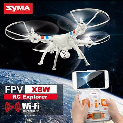 Syma X8W Explorers Drone WiFi FPV RC Quadcopter 4CH 6-Axis Gyro w/2MP Camera RTF