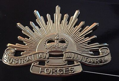 The fifth Australian Army Rising Sun Hat Badge* Rising Sun No 5 60mm X 45mm