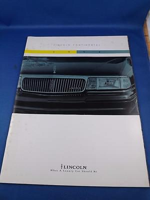 1994 Lincoln Continental Sales Brochure Car Auto Features Options Specifications