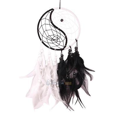 Handmade Yin Yang Dream Catcher Feather Home Wall Hanging Decoration Ornaments