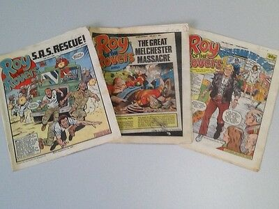 Roy Of The Rovers Comic ~ 3 Editions From July 1986 ~ Free Postage