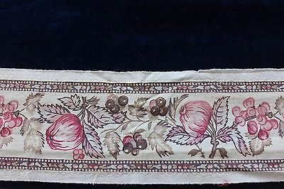 Lovely & Rare Antique 18thC Provencal Cotton Hand Blocked Printed Border Textile