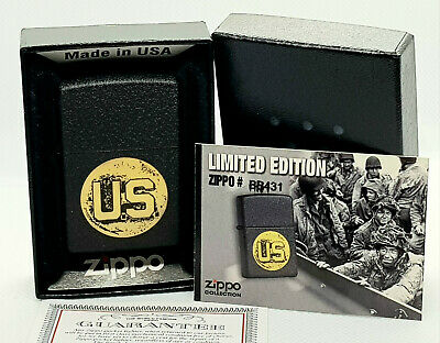 Military U.S Army Force WW2 USA limited edition zippo lighter Normandy D-Day