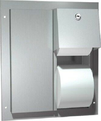 American Specialties Inc. Dual Toilet Paper Dispenser ASI 0032 Stainless Steel