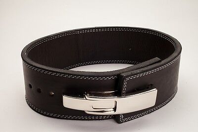 Polished Leather Weightlifting Powerlifting 13mm Lever Belt