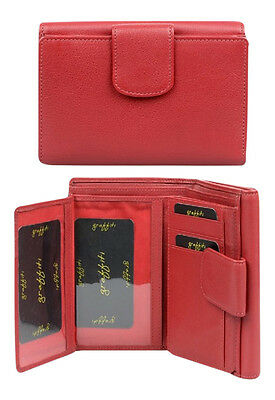 Golunski Leather Wallet & Purse : Made with real leather : RED