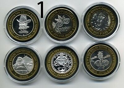 10 Different 1995-2001 Era $10.00 Silver Strikes From A 20 Year Old Collection
