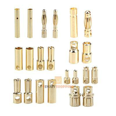 40pcs Alloy Bullet Banana Plug Connector fr RC Battery 2mm 3mm 5mm 5.5mm 6mm