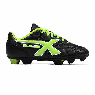 X Blades Young Legend Kids Rugby Boot Shoe Black/ Green