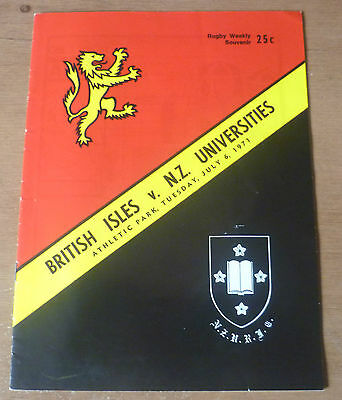 1971 - New Zealand Universities v British Lions, Touring Match Programme.