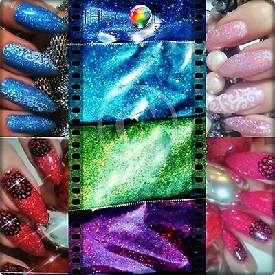 The Colour Shack® & GNI® **HARD CORE HOLO** Holographic Glitter Samples 13 x 2g