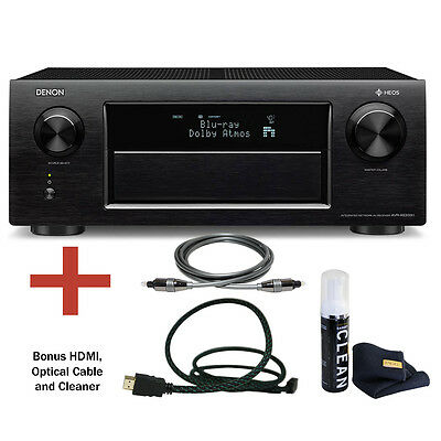 Denon AVR-X6300H 11.2 Channel 4K Ultra HD AV Receiver with Built-In HEOS Bundle