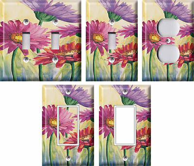 Gerbere in Rosa - Light Switch Covers Home Decor Outlet