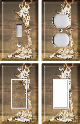 Giraffe Kiss - Light Switch Covers Home Decor Outlet