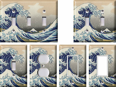 Great Wave (Hokusai) - Light Switch Covers Home Decor Outlet