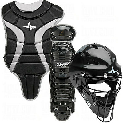 All Star Youth League Series Catchers Gear Sets Black