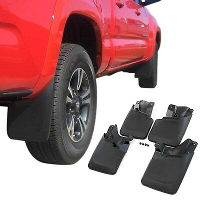 fits Tacoma Mud Flaps 2016-2018 Mud Guards Splash Flares 4 Piece Front & Rear