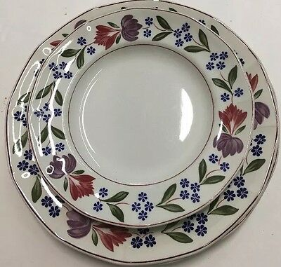 Adams Old Colonial Real English Ironstone 2 Piece Place Setting Made In England