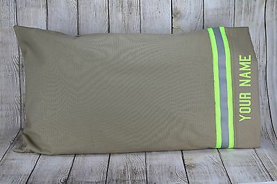 Firefighter Pillow Case With Reflective Stripe and Personalization