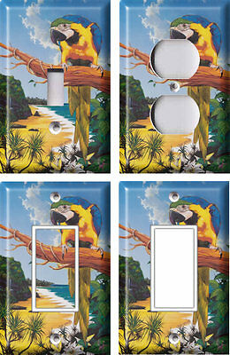 Macaw 3 - Light Switch Covers Home Decor Outlet